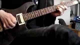 bullet for my valentine soffcating under world of sorrow cover en guitarra