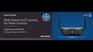 Nighthawk AX4 4-Stream WiFi 6 Router (RAX40) AX3000 Wireless Speed