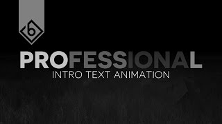 How To Create A Professional Intro Text Animation - Sony Vegas Tutorial