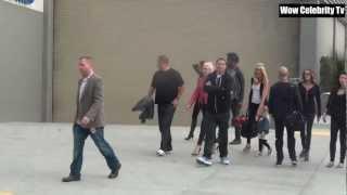 Gwen Stefani arriving at Staple Center for Bush concert