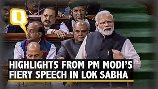 Highlights From PM Modi's Last Speech in Lok Sabha Ahead of 2019 Polls   The Quint