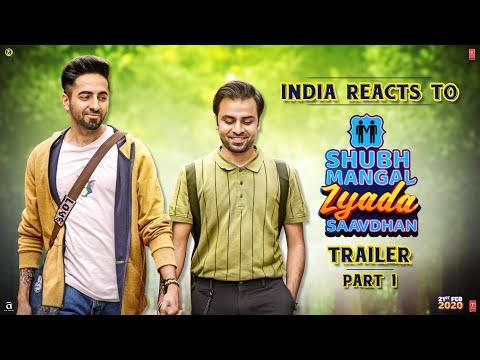 India Reacts to Shubh Mangal Zyada Saavdhan Trailer | Ayushmann Khurrana | Jeetu | 21 February 2020