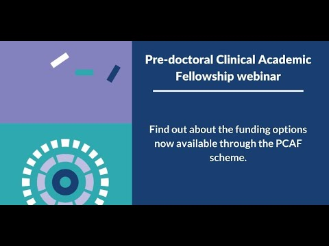 Pre-doctoral Clinical Academic Fellowship webinar