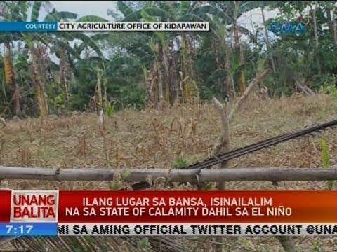 UB: Ilang lugar sa bansa, isinailalim na sa state of calamity dahil sa El Niño