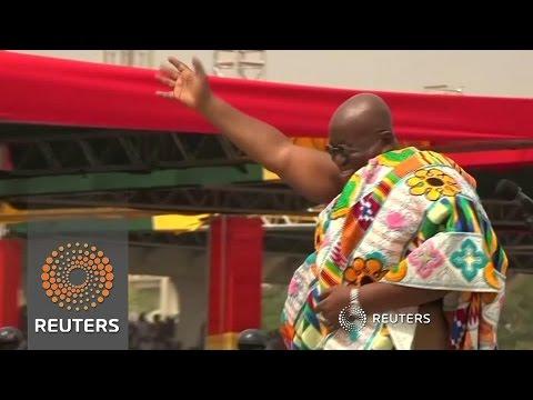 Ghana's new President Akufo-Addo swears in