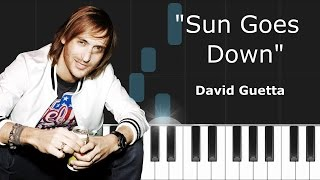 David Guetta & Showtek - ''Sun Goes Down'' Piano Tutorial - Chords - How To Play - Cover