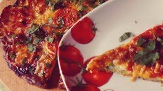 Рецепт быстрой, сочной  пиццы просто объедение из кабачков