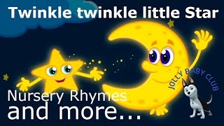 Twinkle Twinkle Little Star  | Lullaby and Bedtime Songs 🌟 Nursery Rhyme from Jolly Baby Club