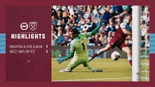 EXTENDED HIGHLIGHTS | BRIGHTON & HOVE ALBION 1 - 1 WEST HAM UNITED