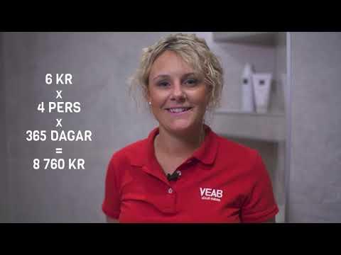 Vardagstips från Växjö Energi - Spara energi i badrum och tvättstuga