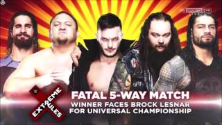 WWE Extreme Rules 2017: Fatal 5- Way Match - Official Match Card