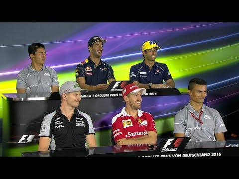 The Drivers Face The Press | German Grand Prix 2016