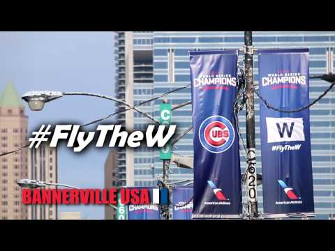 Bannerville USA - Chicago Cubs 2016 World Series Championship Banners