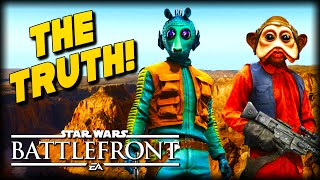 The Truth About Greedo and Nien Nunb : STAR WARS Battlefront Machinima