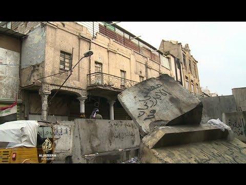 Brojni irački protesti ostavili trag na historijskog ulici Rasheed