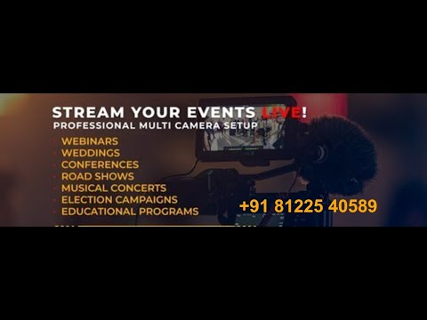 Live Streaming Digital Wedding Marriage Reception Event +91 81225 40589