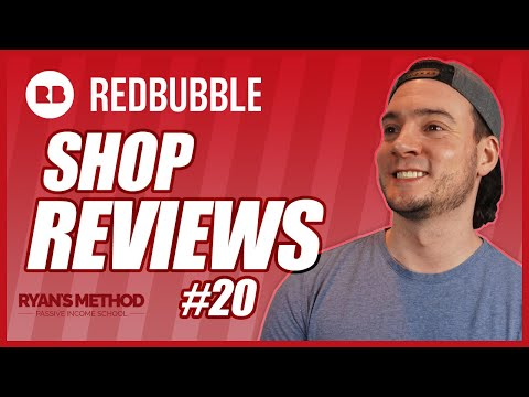 Redbubble Shop Reviews #20   SHOP #5 = ONE OF THE BEST I'VE SEEN! 👀