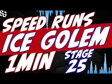Ice Golem stage 25 speed runs FASTEST? & food runs Raid Shadow Legends