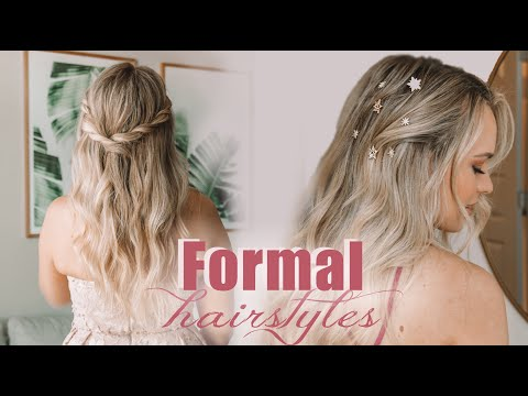 4 Easy Prom and Wedding Hairstyles!