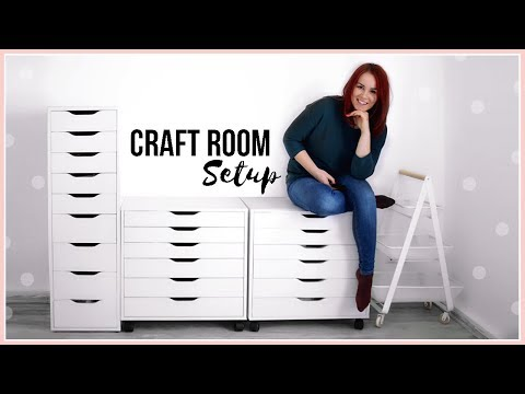 Craft Room Storage Ideas | Setting up my Furniture | Moving Into My New Apartment