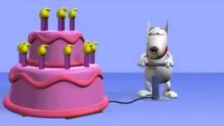 Boldog Születésnapot!  Tortás Kutya