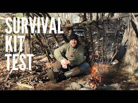 Compact Survival Kit Scenario Test - Part 2: Lost Hunter or Hiker | Fire, Shelter, Signal
