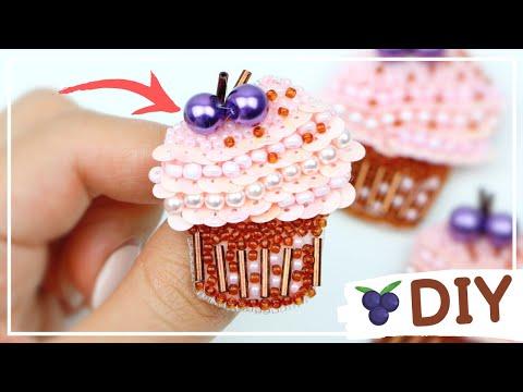 Милая Брошь Вышитая Бисером — ПРОЦЕСС И СЕКРЕТЫ / Embroidery CUTE Beaded Brooch  / DIY NataliDoma