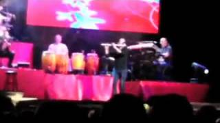 """Ligia Elena, Ruben Blades, Solo de Flauta, Walter Flores. invitado. Tour """"Todos Vuelven""""."""