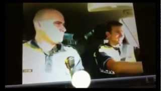 Mama Lover (Serebro) Policía Española. 2 Policías Españoles bailando en el coche. Poli Lover