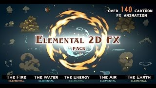 Elemental 2D FX pack (After Effects Template)