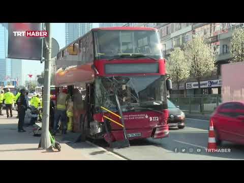 İETT otobüsü Beşiktaş'ta bariyerlere çarptı, bir yolcu yaşamını yitirdi