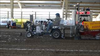 2012 Purdue ASABE Quarter Scale Pulling Tractor Winning pull, 1500 lb weight class
