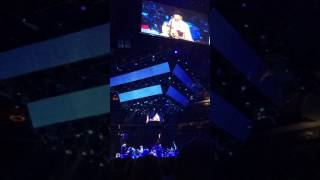 George Strait performing Am I Blue 4/7/17 at the T-Mobile Arena in Las Vegas.
