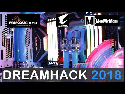 DreamHack2018 VLOG, ModMyMods Amazing Builds at AO ...