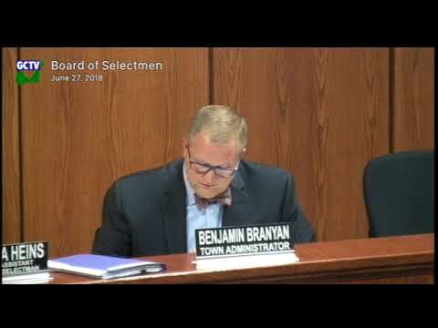 Board of Selectmen, June 27 2018