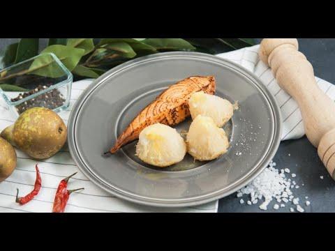 Обожженная форель с запечённым сельдереем | Кухня по заявкам