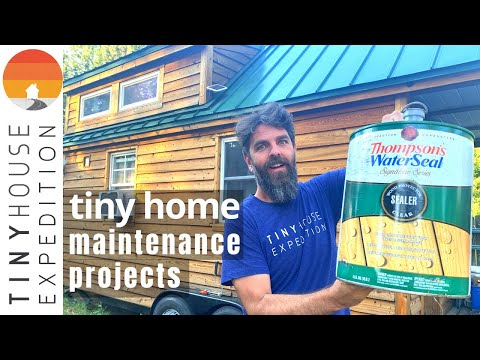 Tiny House Maintenance: Sealing Siding & Trailer Rust Repair