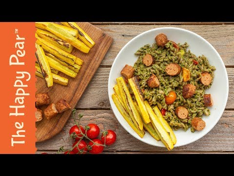 VEGAN PESTO PASTA | PERFECT SUMMER DINNER - THE HAPPY PEAR