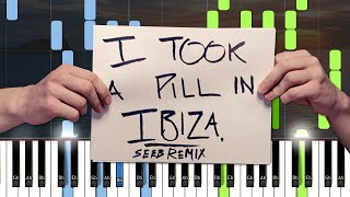 Mike Posner - I Took A Pill In Ibiza (SeeB Remix) - Piano Cover with Sheet Music / MIDI (Synthesia)