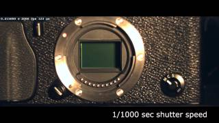 Slow motion camera shutter - Fujifilm X-PRO1 (2,000 fps)