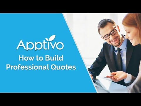 Building Professional Quotes for Your Customers in Apptivo
