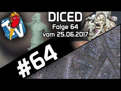 DICED - Die Tabletopshow auf Rocketbeans TV # 64 | Warhammer 40K | Bushido | Platte bauen | DICED