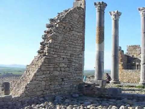Morocco, Volubilis, archaeological monument
