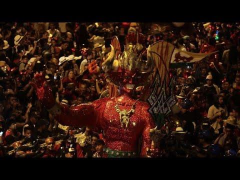 Revellers in Colombia celebrate 'Devil's Carnival'
