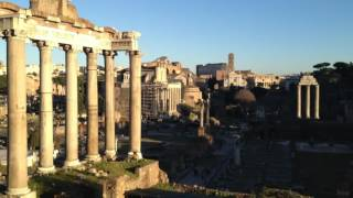 Roma: atardecer en el Foro Romano
