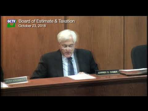 Board of Estimate & Taxation, October 23, 2018