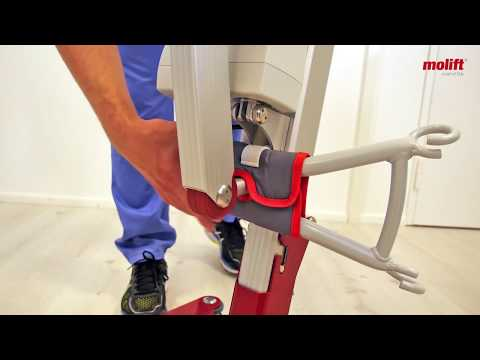 Learn how to fold and unfold mobile hoist Molift Smart 150
