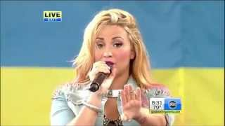 Demi Lovato - Give Your Heart A Break Live Good Morning America 2012