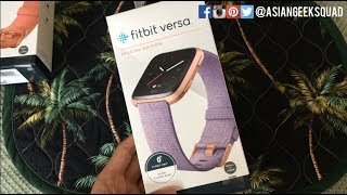 Fitbit Versa Special Edition - Lavender - Unboxing and Setup