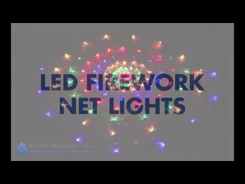 Firework LED Net Light